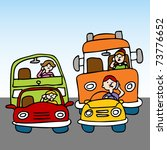 an image of a drivers talking... | Shutterstock . vector #73776652