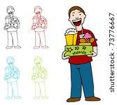 an image of a man holding a box ... | Shutterstock . vector #73776667