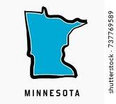 minnesota map outline   smooth... | Shutterstock .eps vector #737769589