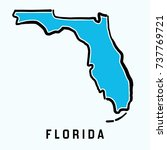 florida map outline   smooth... | Shutterstock .eps vector #737769721
