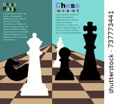 chess background with... | Shutterstock .eps vector #737773441