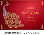 wedding invitation card... | Shutterstock .eps vector #737778271