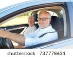 road trip  travel and old... | Shutterstock . vector #737778631