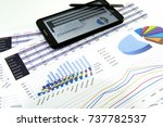accountant verify the accuracy... | Shutterstock . vector #737782537