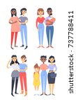set of different couples and... | Shutterstock .eps vector #737788411