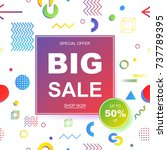 sale banner template design.... | Shutterstock .eps vector #737789395