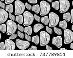vector seamless black and white ... | Shutterstock .eps vector #737789851