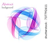 abstract background with pink... | Shutterstock .eps vector #737792611