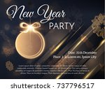 new year golden ball decoration ... | Shutterstock .eps vector #737796517