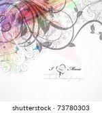 handdrawn floral design... | Shutterstock .eps vector #73780303