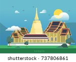 thailand royal temple and grand ... | Shutterstock .eps vector #737806861