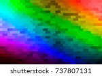 dark multicolor  rainbow vector ... | Shutterstock .eps vector #737807131