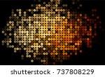 light yellow  orange vector... | Shutterstock .eps vector #737808229