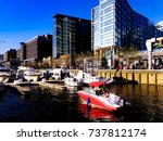 the district wharf is the first ... | Shutterstock . vector #737812174
