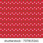 christmas vector dot background.... | Shutterstock .eps vector #737815261