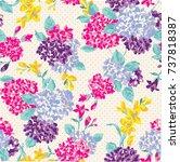 floral pattern | Shutterstock .eps vector #737818387