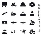 16 vector icon set   delivery ... | Shutterstock .eps vector #737819359