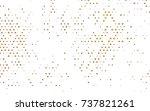 dark black vector banner with... | Shutterstock .eps vector #737821261