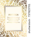 intricate baroque luxury... | Shutterstock .eps vector #737825701