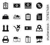 16 vector icon set   report ...   Shutterstock .eps vector #737827684