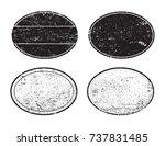 vector grunge post stamps.set... | Shutterstock .eps vector #737831485