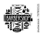 vector barbershop illustration. ... | Shutterstock .eps vector #737832121