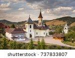 romania  humor monastery 2017... | Shutterstock . vector #737833807