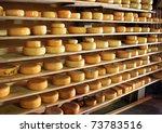 Dutch Cheese On Shelves