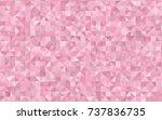 light pink vector triangle... | Shutterstock .eps vector #737836735