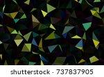 dark blue  yellow vector... | Shutterstock .eps vector #737837905