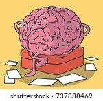 thinking brain illustration.... | Shutterstock .eps vector #737838469