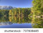 stone mountain park  georgia ... | Shutterstock . vector #737838685