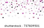heart confetti background for... | Shutterstock .eps vector #737839501