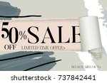 sale advertisement banner on... | Shutterstock .eps vector #737842441