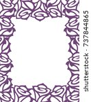 vector decorative frame with... | Shutterstock .eps vector #737844865