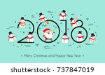 2018 year. merry christmas and... | Shutterstock .eps vector #737847019