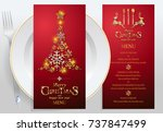 christmas greeting and new... | Shutterstock .eps vector #737847499