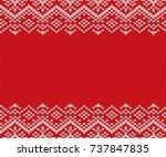 knit christmas geometric... | Shutterstock .eps vector #737847835