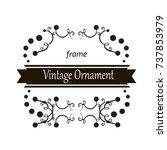 vector decorative frame.... | Shutterstock .eps vector #737853979