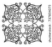 premium  vintage baroque frame... | Shutterstock .eps vector #737854075