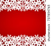 christmas red background with...   Shutterstock .eps vector #737854765