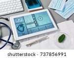 white tablet pc and doctor