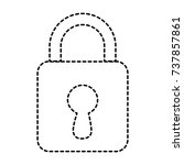 safe padlock isolated icon | Shutterstock .eps vector #737857861