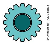 gear machine isolated icon | Shutterstock .eps vector #737858815