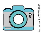 camera photographic isolated... | Shutterstock .eps vector #737859085