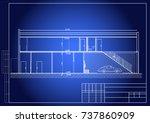 blueprint of car service ... | Shutterstock .eps vector #737860909