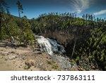 Flowing Gibbon Falls  Cliffs ...