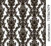 seamless abstract damask... | Shutterstock .eps vector #737867479