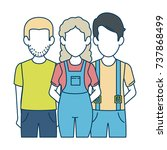 people casual avatars characters | Shutterstock .eps vector #737868499