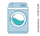 wash machine isolated icon | Shutterstock .eps vector #737871109